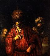 REMBRANDT Harmenszoon van Rijn Haman disgraced oil painting reproduction