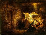 REMBRANDT Harmenszoon van Rijn Joseph dream. oil painting on canvas