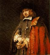 Jan Six (1618-1700), painted in 1654, aged 36.
