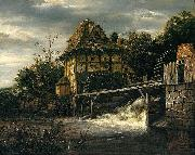 Two Undershot Watermills with Men Opening a Sluice