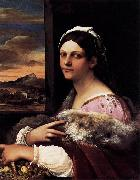 Sebastiano del Piombo A Young Roman Woman oil painting reproduction