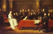Victoria holding a Privy Council meeting