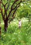 Thomas Cooper Gotch The Orchard oil painting artist