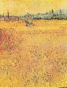 Wheat field with View of Arles