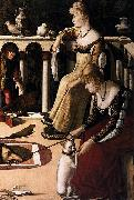 Vittore Carpaccio Two Venetian Ladies oil painting artist