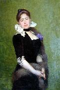Weerts Jean Joseph Portrait of a Lady oil painting reproduction