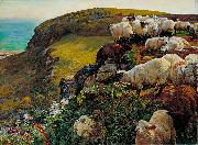 William Holman Hunt Our English Coasts oil painting artist
