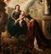Saint Lawrence crowned by Baby Jesus, Claude de Jongh