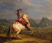 Adam Frans van der Meulen Louis XIV at the siege of Besancon oil painting