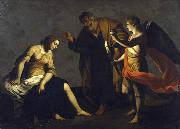 Alessandro Turchi Saint Agatha Attended by Saint Peter and an Angel in Prison oil painting