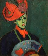 Alexej von Jawlensky Schokko with Red Hat oil painting on canvas