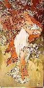 Alfons Mucha Spring oil painting reproduction