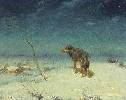 Alfred de Dreux The lone Wolf oil painting