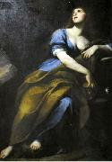 Andrea Vaccaro Penitent Mary Magdalene. oil painting