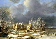 BORSSUM, Anthonie van Poelgeest Castle at Koudekerk near Leiden oil painting
