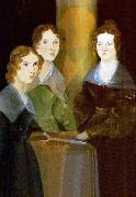 A painting of the three Bronta sisters