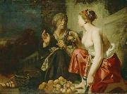 Caesar van Everdingen Vertumnus and Pomona oil painting