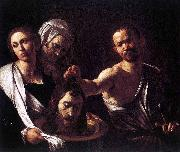 Caravaggio Salome with the Head of John the Baptist oil painting reproduction