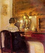 A Lady Playing the Spinet
