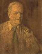 Watercolor self-portrait of Charles W. Bartlett, 1933, private collection