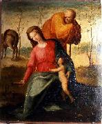 Domenico di Pace Beccafumi The Flight into Egypt oil painting reproduction