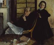 Henri Degas and His Niece Lucie Degas