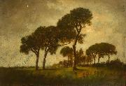 A landscape with trees