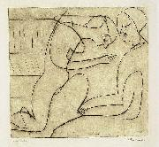 Lovers in the bibliothek - etching