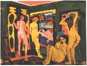 Bathing women in a room