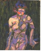 Female nude with shadow of a twig