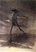 Felicien Rops Satan Sowing Seeds oil painting