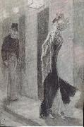 Felicien Rops Human Pardon. The Hundert Unprententious Sketches to Cher Honest Pople oil painting