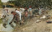 Francisco Pradilla Ortiz Galician Washerwomen oil painting reproduction