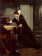 Queen Elisabeth Signs the Condemnation to Death to Mary Stuart