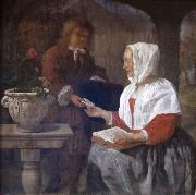 A Girl Receiving a Letter