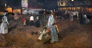 George Hendrik Breitner An Evening on the Dam in Amsterdam oil painting