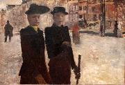 George Hendrik Breitner Women on the Rokin oil painting
