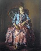 Painting: Emma in a Purple Dress