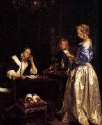Gerard ter Borch the Younger Woman Reading a Letter oil painting reproduction