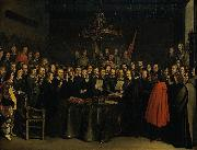 Ratification of the Peace of Munster between Spain and the Dutch Republic in the town hall of Munster, 15 May 1648.