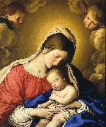 Giovan Battista Salvi Sassoferrato Madonna and Child oil painting reproduction