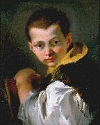 Boy Holding a Book