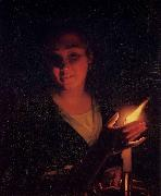Young Girl with a Candle