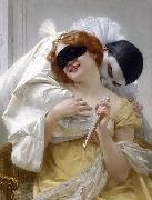Guillaume Seignac Pierrot's embrace oil painting reproduction