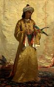 A Moorish Girl with Parakeet