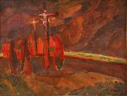 Jindrich Prucha Crucifixion oil painting reproduction