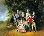 Queen Charlotte with her Children and Brothers