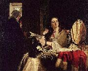 John callcott horsley,R.A. St. Valentine's Day oil painting