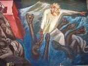 Departure of Quetzalcoatl, Dartmouth mural