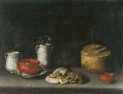 Juan van der Hamen y Leon Still Life with Porcelain and Sweets oil painting